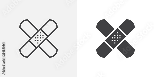 Band aid icon Fototapet
