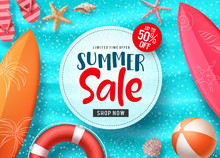 Summer Sale Vector Banner Desi...