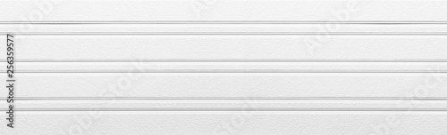 Fényképezés Panorama of White painted plastic building wall texture and background