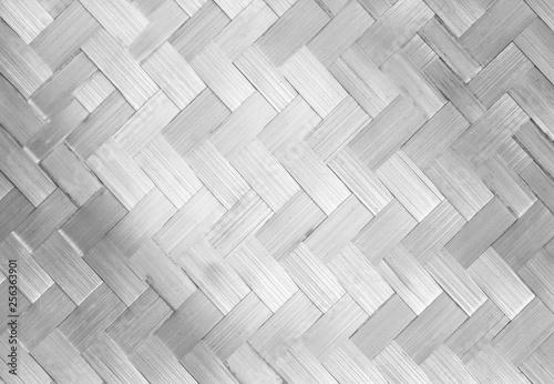 close up woven bamboo pattern Wallpaper Mural