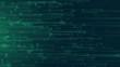 big data flow data analysis cloud computing with binary code running