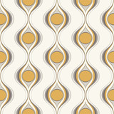 seamless abstract retro geometric wavy wallpaper pattern - Vector - 256377713