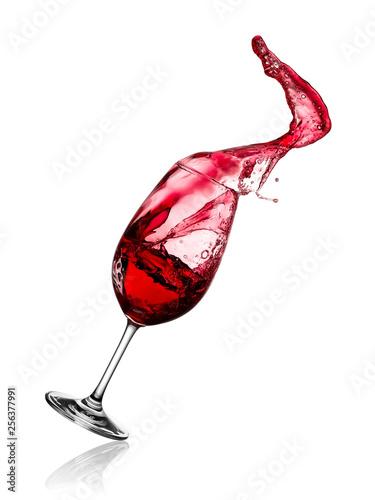 Photo  Red wine glass splash