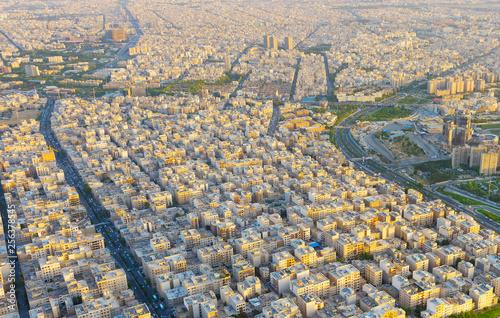 Cityscape of Tehran aerial Iran