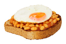 Fried Egg And Baked Beans With...