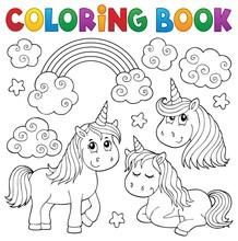 Coloring Book Cute Unicorns 1