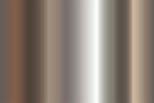 Seamless Shiny Metal Gradient Texture. Vector Horizontal Steel Background.