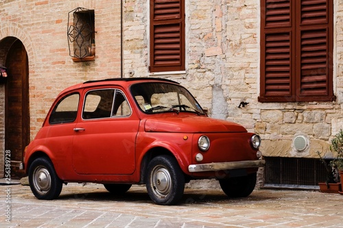 italian red vintage car Canvas Print