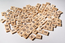 Alphabet Letters On Wooden Scr...