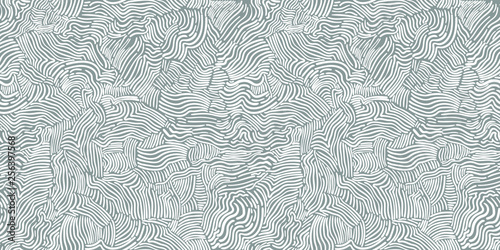 Valokuva  Abstract chaotic seamless black and white pattern hand drawn hatching