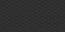 Chinese Background Wave Seamless Pattern Vector Illustration