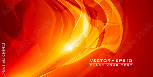 Abstract red ardent background with lighting effect Canvas Print