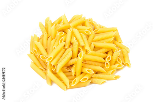 Fotografie, Obraz  a pile of pasta on a white plate