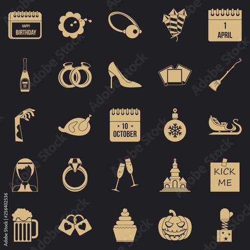 Fotografie, Obraz  Precious gift icons set
