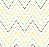 seamless chevron wave pattern - Vector - 256403166