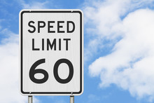 US 60 Mph Speed Limit Sign