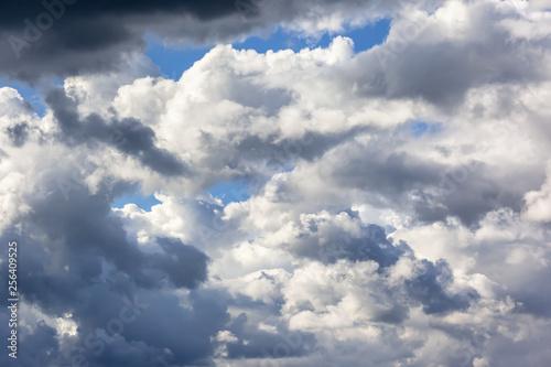 Vászonkép very cloudy sky background