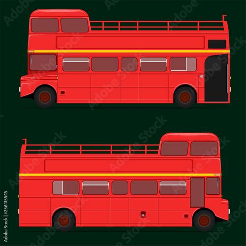 Fotografie, Tablou  red double decker bus half roof top