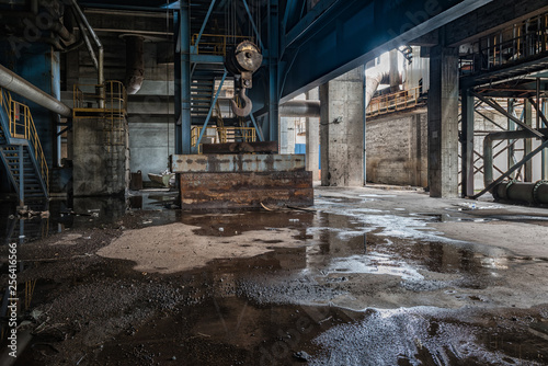 Industrial buildings in an abandoned factory Canvas Print