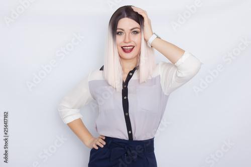 Fotografie, Obraz  Blonde secretary woman