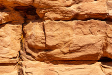 Coloured Canyon Is A Rock Formation On Sinai Peninsula. Sights Of Nuweiba, Egypt.