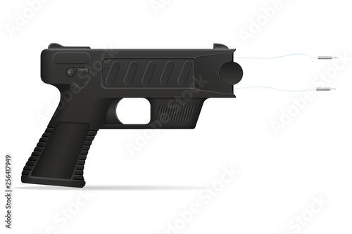 Fotografie, Obraz  stun gun weapon self defense vector illustration