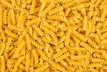 Texture Of Raw Spirelli Noodles Pasta Italian Food Macro Background