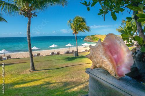 tropical beach in Bahamas Fototapeta