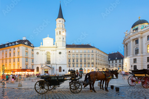 Horse carriage, Josefsplatz, Vienna, Austria Wallpaper Mural
