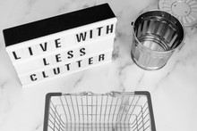 Live With Less Clutter Message...