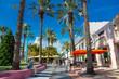 canvas print picture - Miami, South beach,  Lincoln Road