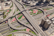Aerial View Of Road Junction I...