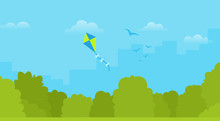Paper Kite Vector Icon Flat Is...