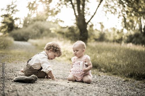 Fotografia, Obraz  Kind und Baby