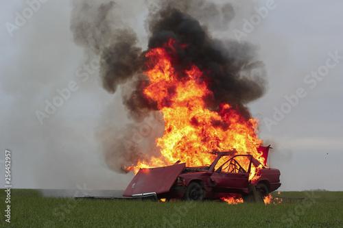 Valokuva  explosion car