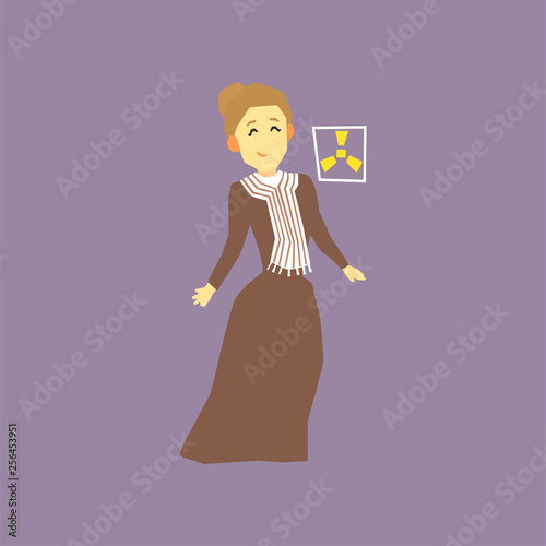 Famous woman scientist - Marie Curie Wallpaper Mural