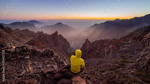 Foto  Atardecer en el parque nacional de la caldera deTaburiente