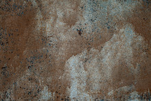 Rusted On Surface Of The Old Iron, Deterioration Of The Steel, Decay And Grunge Texture Background. Old Metal Iron Panel.
