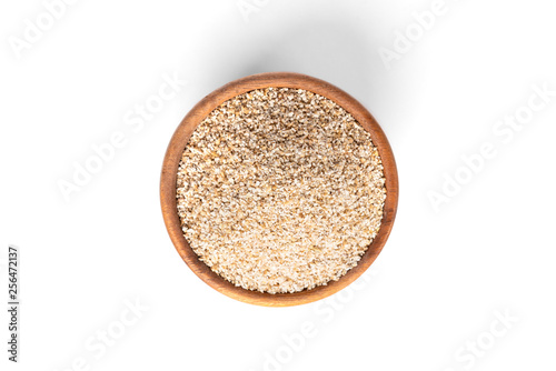Fotografia, Obraz  Fine-ground barley isolated on white background.
