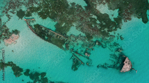 Photo sur Toile Naufrage shipwreck at the shores of Dar es salaam, Tanzania