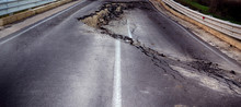 Asphalt Road Destroyed By The ...