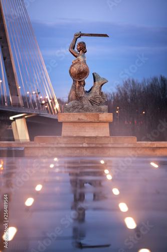 Fototapeta Warsaw Mermaid - Syrenka Warszawska obraz