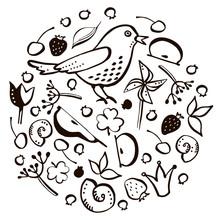 Set Bird And Berry