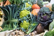 Many Varied Vegetables For Sale At Borough Market