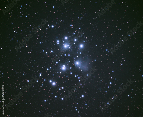 stars in the sky, pleiades Canvas Print