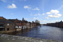 Flooding On The River Ouse, York - Yorkshire, England, UK