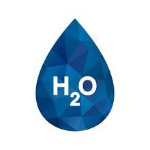 Illustration  H2O Icon
