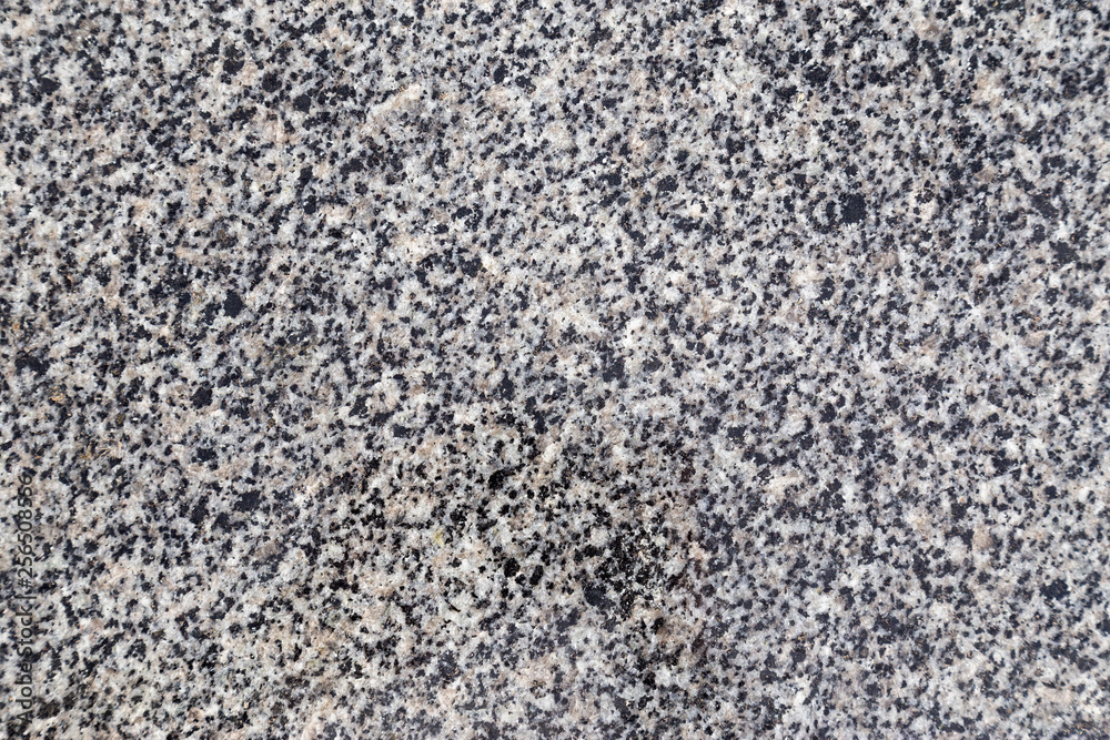 Fototapety, obrazy: Gray granite stone background. Aged rough rock material texture top view
