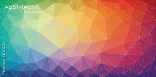 Bright horizontal Multicolor triangle background - Vector Eps