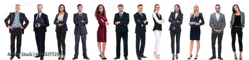 group of successful business people isolated on white Fototapeta